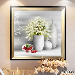 White Rose Crafts Australia - 5D Diy diamond painting cross stitch full round&square diamond embroidery flower white rose vase home mosaic decor Art Craft gift toy A10034