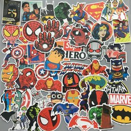 Wholesale Hero Sheets Cartoon Movie Stickers Personality Graffiti The Avengers Car Sticker Waterproof Lovely PVC Anti Wear Multiple Styles qx I1