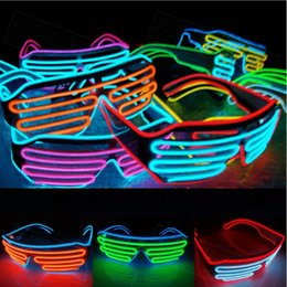 Wire Eyeglasses Australia - EMS Shipping Free 50 Pcs Multicolor Eyeglass Cold Lights EL Wire LED Light Glasses Party Supplies Cheerleading Cheer Props Christmas Gift