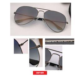 246cf8d621 Hot new Classic Brand lentes de vidrio de aviación Gafas de sol degradadas  hombres mujeres uv400 gafas de sol Hombre 58mm 62mm lente gafas de sol  mujer ...