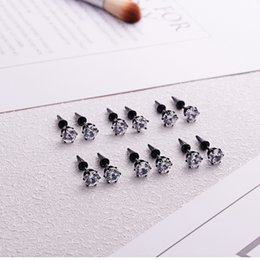 $enCountryForm.capitalKeyWord NZ - New Black Labret Lip Bar Monroe Tragus Stud Helix Nose 16g with Surgical Steel prong cubic zircon 3 pairs lot