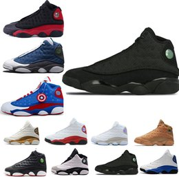 Cheap Plastic Cats Australia - Cheap 2019 New Mens Basketball Shoes 13 Bred Black True Red History Of Flight DMP Discount Sports Shoe Women Sneakers 13s Black Cat