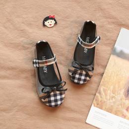 heeled sandals for girls 2019 - Girl Toddler Shoes Sandals New Summer Kids Princess Grid Bowtie Flat Heels For Baby Girl cheap heeled sandals for girls
