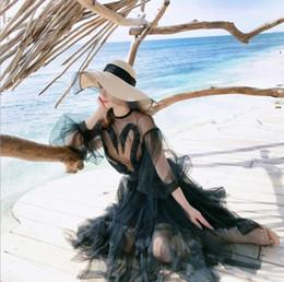 Mesh Fiber Australia - 2019 fashion new wild trend hot summer hat new mesh visor ladies sunscreen beach big straw hat outdoor fashion hat tide wholesale