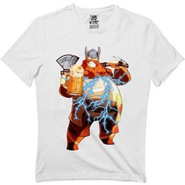 bc43b70c81f7 Discount funny drinking t shirts - Fat-Thor Funny End Shirts Beer Drinking  Drunk Game