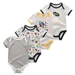 orange baby girl clothes UK - Kiddiezoom 0-12m Newborn 2019 Baby Girl Clothes 4pcs Clothing Sets Roupas De Bebe Baby Boy Clothes Infant Toddler Cotton Tops Y19061303