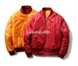 i feel like pablo kanye clothing NZ - 2017 streetwear men clothes brand clothing hip hop i feel like pablo kanye west pilot flight satin ma1 jacket bomber jackets