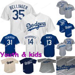 05f0b2ee8 Youth KIDS 35 Cody Bellinger Los Angeles Joc Pederson Dodgers Enrique  Hernandez Max Muncy Corey Seager A.J. Pollock Justin Turner Jersey