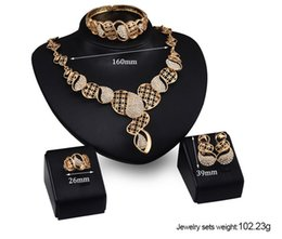 $enCountryForm.capitalKeyWord Australia - Vintage Lady Jewelry Set Rhinestone Pendant Necklace Ring Bracelet Earrings Pendant Decoration Necklace Earrings Bracelet Sets