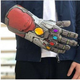Glove Mask Australia - Avengers 4 Endgame Thanos mask and gloves 2019 New Children's adult Halloween cosplay Natural latex Infinity Gauntlet Toys B