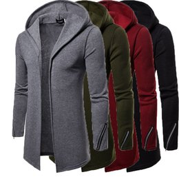 Wholesale military trench coat for sale - Group buy Men Fashion Wind breaker Overcoat Male Casual Outwear Streetwear Coats Winter Military Long Trench Coat Thick Cotton Outwear