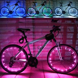 Discount lights for motorcycles wheels - Cyclezone 2M 20LED Motorcycle Cycling Bike Bicycle Wheels Spoke Flash Light Lam waterproof Bike Light For Wheels A30