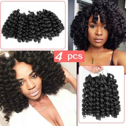 $enCountryForm.capitalKeyWord NZ - Hot Selling! 4Pcs Ombre Jumpy Wand Curl Synthetic Braiding Hair Extension Kanekalon Jamaican Bounce Hair For Black White Woman