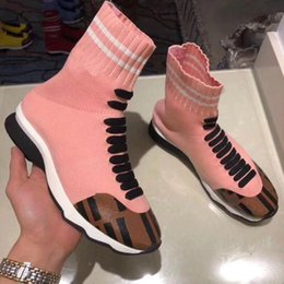 $enCountryForm.capitalKeyWord Australia - European station 2019 new spring and autumn printing letters knit socks stretch short boots casual couple Martin women's boots bn89605