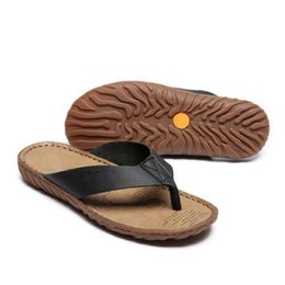 Good Quality Flip Flops Australia - Leather Men Latest Flip Flops Strong Quality Various Venues Slippers Good Reputation Cheap Good Slippers Top Quality Cow Leather