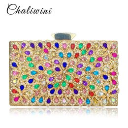 $enCountryForm.capitalKeyWord NZ - Metallic Quality England Style Colorful Crystal Diamond For Women Bags Hand Bags Hand Made Clutches Party Bag Bolsa Feminina #151181