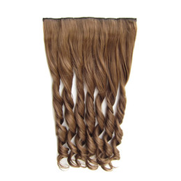 $enCountryForm.capitalKeyWord UK - Five Clips One Piece Clip In Hair Wig Hair Wigs Synthetic Wigs for Women and Girls Curly Wigs
