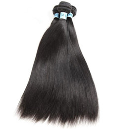 hair for weaving Australia - 10A Grade Hair Weft Natural Black Color Hair Weaving Silky Straight Chinese Virgin Human Hair Bundles for Black Woman Fast Free Shipping!
