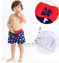 f3769a6cb3184 Boys Board Shorts Elastic Waistband Kids Bottom Bathing Kids Beachwear Boy  Shorts Stars Summer Beach Swimwear Swimming Pants KKA6983