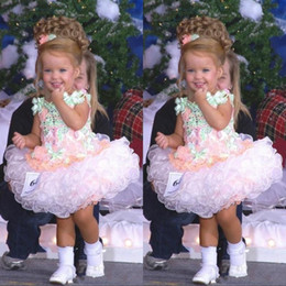 cupcake pageant dresses for infants Canada - Miss America Lovely Toddler Kids Baby Little Girls Flower Girl Dress Organza Cupcake Tutu Girl's Pageant Dresses Party Wears For Infant