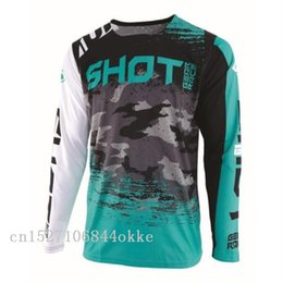 Venta al por mayor 2019 Motocross Jersey apto para adultos Para SHOT contador Jersey Downhil Mountain Bike DH Shirt MX Racing Sports Z1B