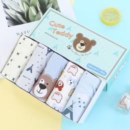$enCountryForm.capitalKeyWord Australia - Boy briefs cartoon bear pattern underwear cute baby underwear Kids panties 1 box of 5 cotton briefs for children 2-13 years old boys