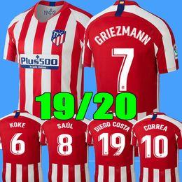 bda6de33613 Jersey atletico online shopping - 19 soccer jersey Atletico Madrid GRIEZMANN  KOKE GABI SAUL DIEGO COSTA