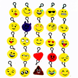 cartoon make toys NZ - Cute cartoon emoji toy Emoji mobile phone pendant black keychain expression jewelry hanging plush toy keychain
