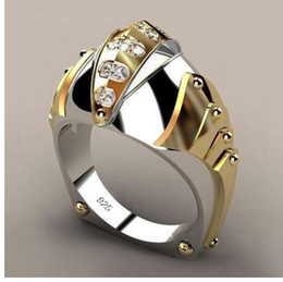 $enCountryForm.capitalKeyWord NZ - Hip Hop Micro Pave Rhinestone Iced Out Bling Gold Color Ring High Quality Crystal Rock Rings For Men Jewelry