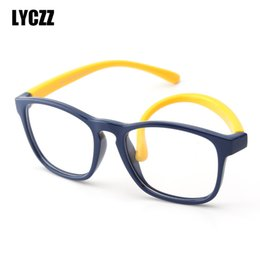 big prescription glasses Australia - LYCZZ 2019 High Quality Brand Silicone Students Eyeglasses Frames Myopia Prescription Eyewear Big Glass for Girl and Boy Oculos