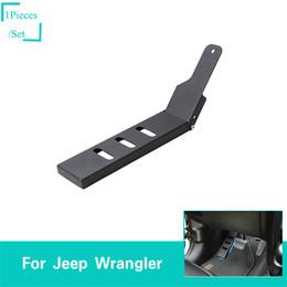 Pedal Auto Australia - Car Pedal Black Left Foot Rest Pedal Decoration Cover For Jeep Wrangler JL 2018 UP High Quality Auto Exterior Accessories