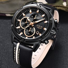 $enCountryForm.capitalKeyWord Australia - 2019lige Men Watches Fashion Chronograph Male Top Brand Luxury Quartz Watch Men Leather Waterproof Sport Watch Relogio Masculino GMX190711