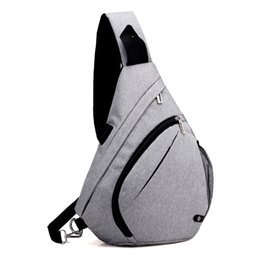 $enCountryForm.capitalKeyWord NZ - Sport Outdoor Packs day packs high quality Triangle bag waterproof men chest bag Oxford cloth material shoulder cross body bags free shippin