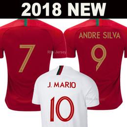 World teams online shopping - 2018 ANDRE SILVA soccer jerseys Thailand quality World cup J MARIO QUARESMA BERNARDO NANI EDER football shirts national team