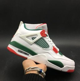 Chinese  Newest 4 NRG Do the Right Thing White Pizzeria 4s IV Kicks Men Basketball Sports Shoes Sneakers High Quality With Box manufacturers