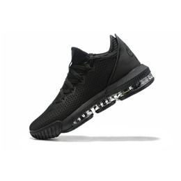 youth kids basketball shoes UK - Mens lebron 16 low basketball shoes Triple Black Easter MVP BHM Christmas Gold Red Youth kids new lebrons sneakers boots with box size 7 12