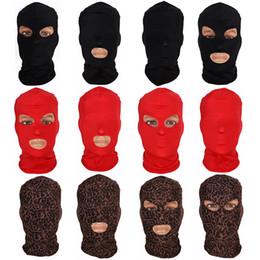 $enCountryForm.capitalKeyWord Australia - 2019 New Full Face Cover Mask Three 3 Hole Balaclava Knit Hat Winter Stretch Snow mask Beanie Hat Cap New Black Warm Face masks