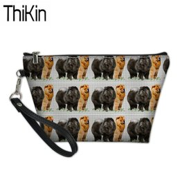 $enCountryForm.capitalKeyWord Australia - THIKIN Portable Wash Kit Bags Women Chow Dog Printing Make Up Pouch Ladies PU Leather Cosmetic Cases for Females Makeup Bags