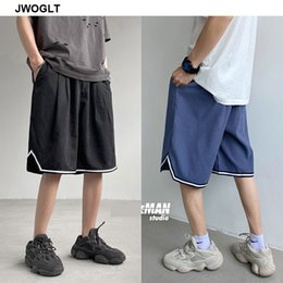 mens black khaki shorts Australia - Summer New Streetwear Fashion New Mens Shorts Casual Loose Oversize Harem Black Khaki Track Short Joggers 4XL 5XL