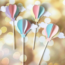 Baby Shower Toppers For Cupcakes Australia - cake topper banner for DIY Cupcake Wrapper Baking Cup birthday wedding party bar Table decoartion baby shower balloon