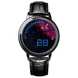 night cooling glasses 2019 - Korean version of the trend personality smart simple LED night light touch screen watch cool male and female students st