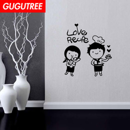 $enCountryForm.capitalKeyWord Australia - Decorate Home love cook cartoon art wall sticker decoration Decals mural painting Removable Decor Wallpaper G-2006