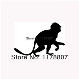 monkey tails wholesale NZ - HotMeiNi Wholesale 20pcs lot MONKEY Sticker For Car Rear Windshield Truck SUVAuto Laptop Kayak Canoe Art Wall Die Cut Vinyl 8 Colors