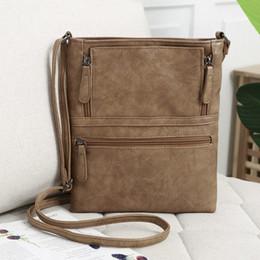 Business Fashion For Women Australia - Genuine Leather Messenger Bags Women Zipper Travel Business Cross Body Shoulder Bag For Female Sacoche Bolsa Masculina F40 Y19061204