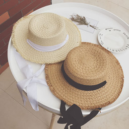 artificial small grass NZ - 2019 new hot sale late night iu with the same paragraph Lafite straw hat female summer small fresh sun seaside beach lace strap hat