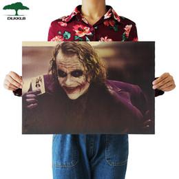 $enCountryForm.capitalKeyWord Australia - DLKKLB The Dark Knight Classic Movie Kraft Poster Clown Bar Coffee Shop Decoration Painting 51.5X36cm Wall Sticker Home