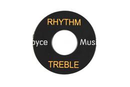 Großhandel Niko Black Gold Font RHYTHM TREBLE 3 Weg Schalter runde Auflage Abdeckungen für Gibson LP / SG E-Gitarre Großhandel