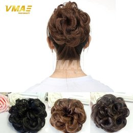 $enCountryForm.capitalKeyWord NZ - Natural Hairpiece Chignon Synthetic Hair Donut Roller Fast Bun Heat Resistant Hairpiece Hair Bun Girls Wavy Curly Hair DHL Free Shipping