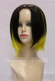 $enCountryForm.capitalKeyWord Australia - WIG LL<<< 002858 Charming no bangs yellow mix brown hen's short wigs