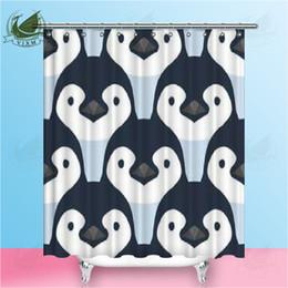 $enCountryForm.capitalKeyWord Australia - Vixm Antarctic Animal Watercolor Cartoon Cute Penguin Shower Curtains Waterproof Polyester Fabric Curtains For Home Decor